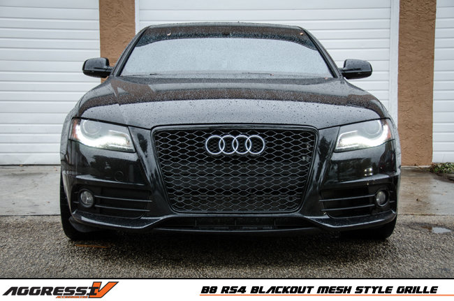 Rs4 Blackout Mesh Style Grille Audi B8 A4 S4 09 2012