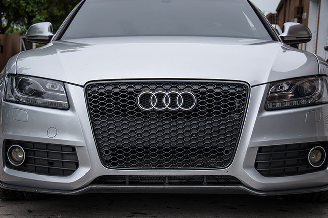 Rs5 Blackout Mesh Style Grille Audi B8 A5 S5 08 2012