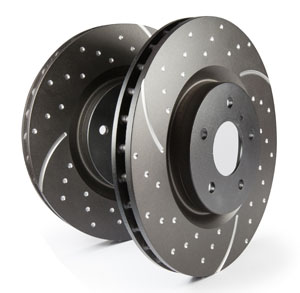 EBC Brakes Front GD Sport Slotted and Dimpled Rotor - 12.6""