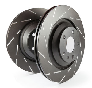 EBC Brakes USR Black Dash Series Front Sport Slotted Rotor - 12.6""