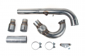 """USP 3"""" Stainless Steel Downpipe: MK7 GTI, Golf, A3 FWD (Catless)"""