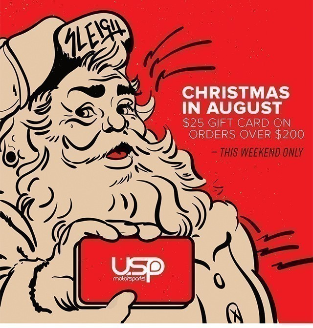 Christmas In August Clipart.Usp Motorsports Weekend Warrior Xmas In August 25 Gift